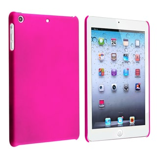 BasAcc Hot Pink Snap-on Rubber Coated Case for Apple iPad Mini