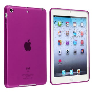 BasAcc Clear Purple TPU Rubber Case for Apple iPad Mini