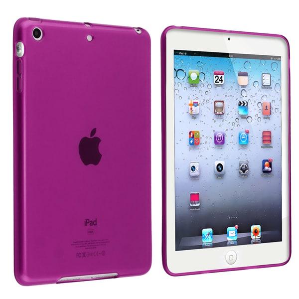 BasAcc Clear Purple TPU Rubber Case for Apple iPad Mini