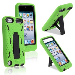 BasAcc Black Hard/ Green Skin Hybrid Case for Apple iPhone 5
