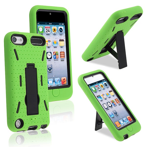 BasAcc Black Hard/ Green Skin Hybrid Case for Apple iPhone 5