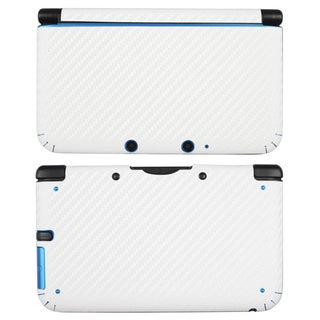 BasAcc White Carbon Fiber Decal Sticker for Nintendo 3DS XL