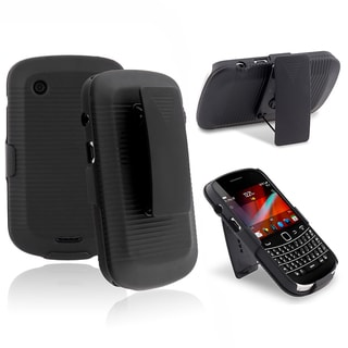 BasAcc Black Holster with Stand for BlackBerry Bold 9900/ 9930