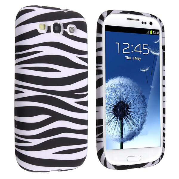 BasAcc Black/ White Zebra TPU Rubber Case for Samsung Galaxy S III/ S3