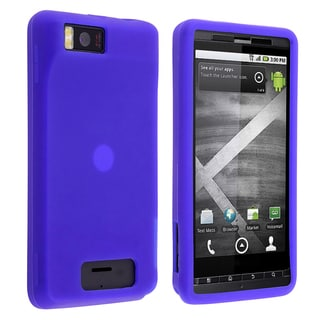 BasAcc Blue Silicone Case for Motorola Droid X/ X2 S