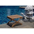 Teak X Side Table / Bath Stool / Shower Stool
