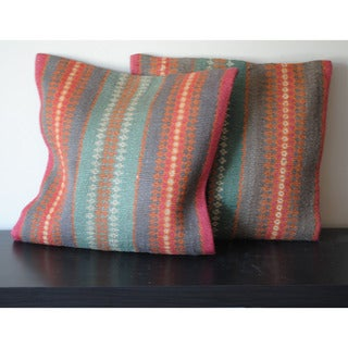 Tribal Indo Kilim Pillows (Set of 2)