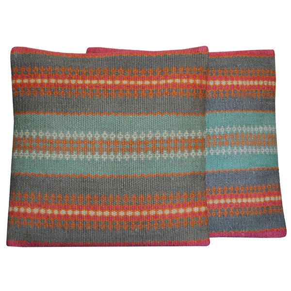 Tribal Indo Kilim Pillows (Set of 2)