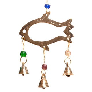 Brass Bell Fish Wind Chime (India)