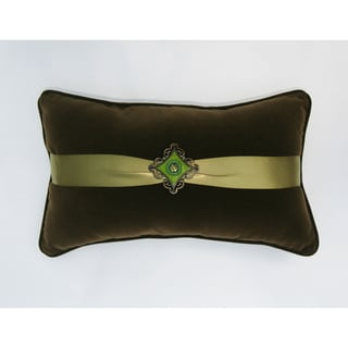 JAR Designs Green Jewel Decorative Throw Pillow
