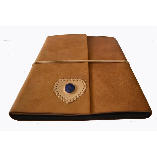 Handmade Leather and Gemstone Photo Album / Scrapbook (India)