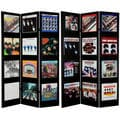 6-Foot Tall Double-Sided 'The Beatles Album Covers' Canvas Room Divider