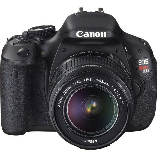 Canon EOS Rebel T3i 18MP Black Digital SLR Camera with 18-55MM & 75-300 Lens Kit