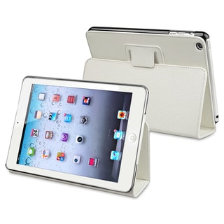 BasAcc White Snap-on Protective Leather Case with Stand for Apple iPad Mini