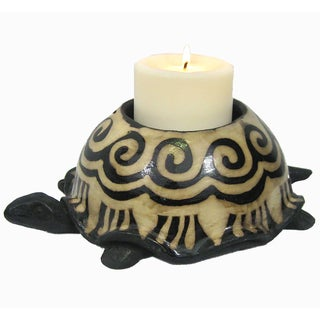 Turtle Clay Candle Holder (Honduras)