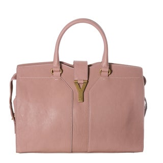 Yves Saint Laurent 'Cabas ChYc' Medium Blush Leather Tote Bag