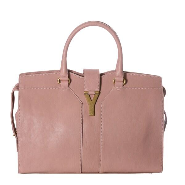 Yves Saint Laurent 'Cabas ChYc' Medium Blush Leather Tote Bag