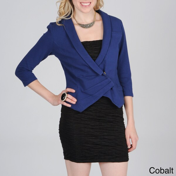 Hanna & Gracie Women's Asymmetrical 3/4 Sleeve Jacket