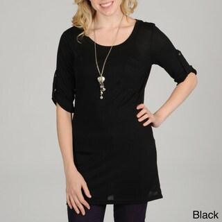 Hanna G Women's 3/4 Sleeve Scoop Neck Top