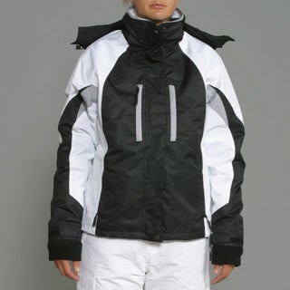 Pulse Women's '3-in-1 Systems' Black/ White Snow Jacket