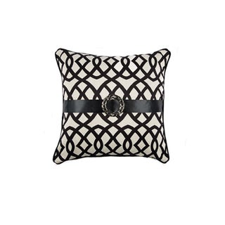 JAR Designs 'Black and White Buckle' Throw Pillow