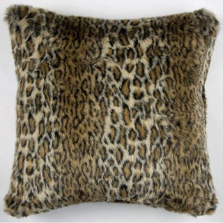 JAR Designs Faux Ocelot Fur Throw Pillow