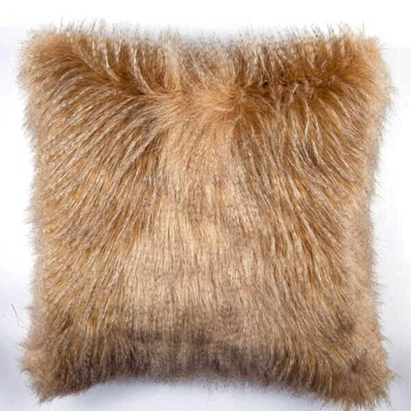 JAR Designs 'Golden Feather Fur' Throw Pillow