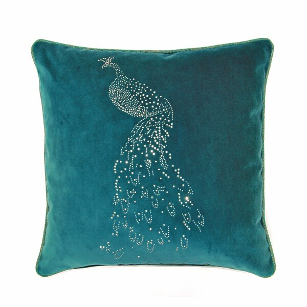 JAR Designs 'Peacock' Throw Pillow