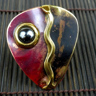 Handmade Copper, Brass and Hematite Ring (South Africa)