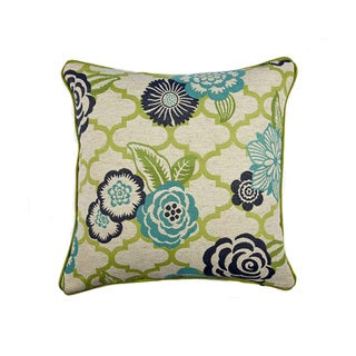 JAR Designs 'Rashida Blue/ Green' Throw Pillow