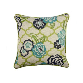 JAR Designs 'Rashida Blue/ Green' Throw Pillow