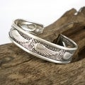 Beautiful Wings Thai Karen Fine Silver Bracelet Cuff (Thailand)