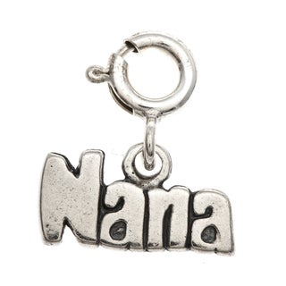 Sterling Silver 'Nana' Charm