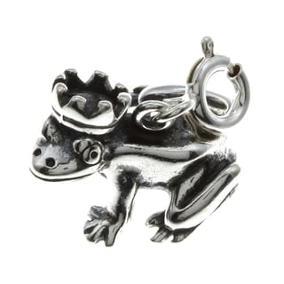 Sterling Silver Frog Prince Charm