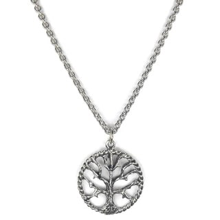 Jewelry by Dawn Pewter Tree Of Life Stainless Steel Chain Necklace