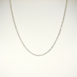 Jewelry by Dawn Sterling Silver 18-Inch Diamond Cut Rope Chain Necklace