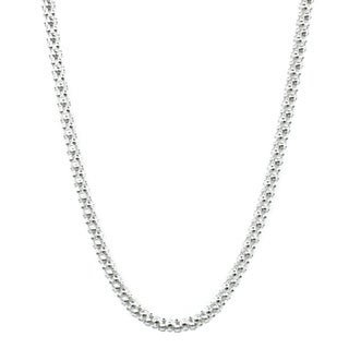 Jewelry by Dawn Sterling Silver Popcorn Style 18-Inch Chain Necklace