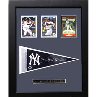 New York Yankees 12x18-inch 3-card Frame with Pennant