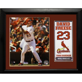 St. Louis Cardinals David Freese 11x14 Deluxe Stat Frame