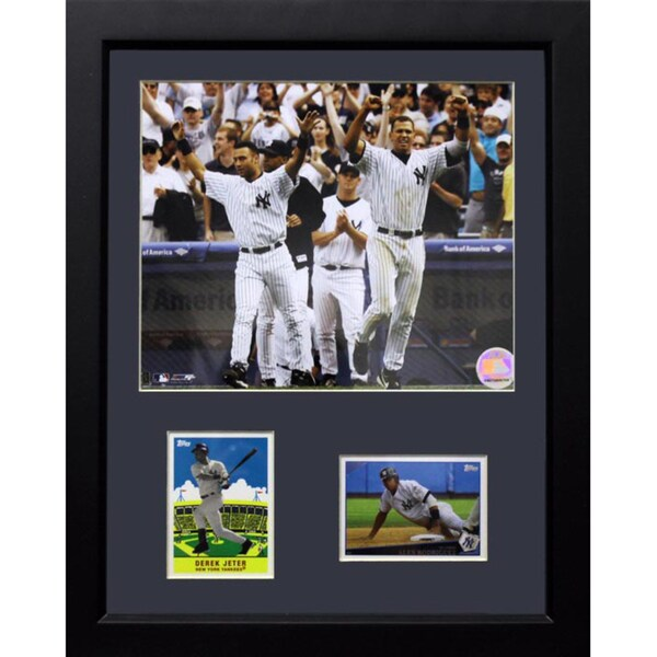 New York Yankees Derek Jeter/Alex Rodriguez 12x18 2-card Frame