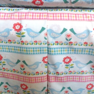 Flowers and Birds Crib Skirt