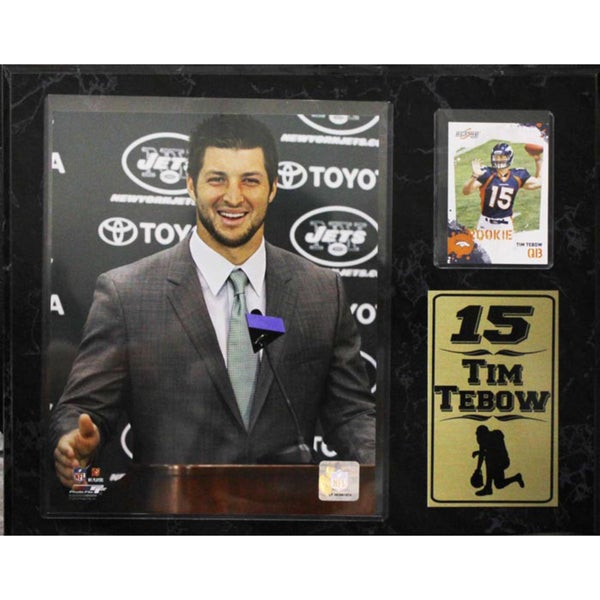 Tim Tebow New York Jets 12x15-inch Photo Stat Plaque with Card 10304053