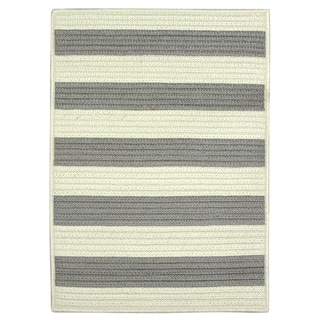 Nautical Stripe Grey Indoor/ Outdoor Accent Rug (1'8 x 2'6)