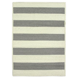 Nautical Stripe Grey Indoor/ Outdoor Braided Rug