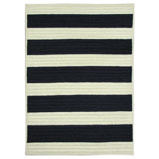 Nautical Stripe Navy Braided Rug