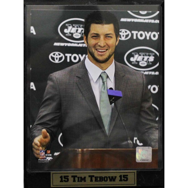 Tim Tebow New York Jets 9x12-inch Photo Plaque 10304071