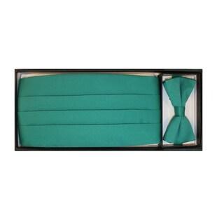 Ferrecci Men's Pastel Green Cummerbund/ Necktie Set
