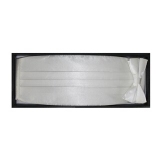 Ferrecci Men's White Cummerbund/ Necktie Set