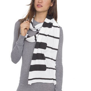 American Apparel Piano Key Printed Sheer Jersey Scarf