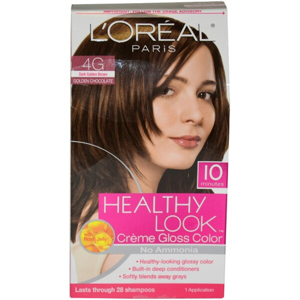 L'Oreal Healthy Look Dark Golden Brown Creme Gloss Hair Color